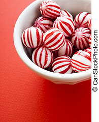Peppermint candies - Gourmet white and red peppermint ...