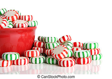 Peppermint Christmas candy