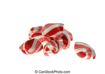 Peppermint Pile - A photo of a pile of peppermints set...
