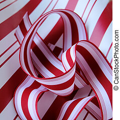 peppermint ribbon - red and white striped ribbon on similar ...