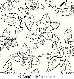 peppermint seamless pattern