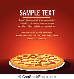 Pepperoni Pizza Background. Vector