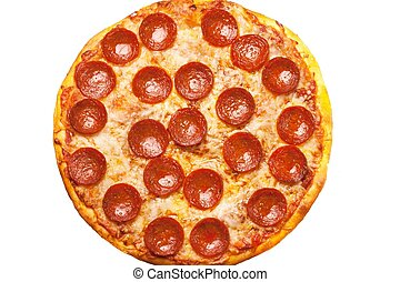 Pepperoni Pizza close up for backgrounds - Pepperoni Pizza ...