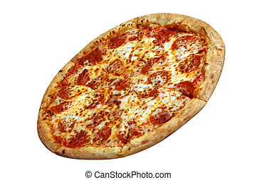 Pepperoni Pizza - Pepperoni pizza. Isolated with clipping ...