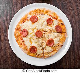 pepperoni, pizza.