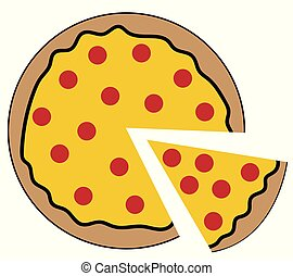pepperoni pizza clip art and stock illustrations 6 214 pepperoni rh canstockphoto com Single Pepperoni Clip Art pepperoni pizza clipart black and white