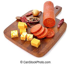 pepperoni, salame, formaggio