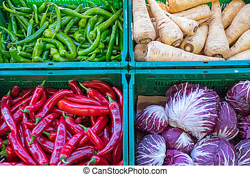 Peppers and other vegetables