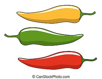 Peppers - Abstract vector illustration of peppers cartoon...
