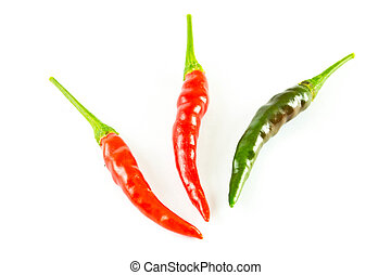 Peppers on a white background