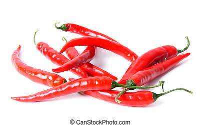 Peppers on white background.
