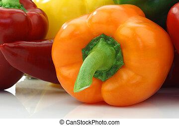 peppers(capsicum), coloridos, sino