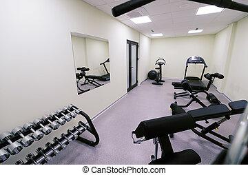 pequeño, affordable, casa gimnasio