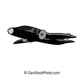 pequeño, avión, tema, diseño, icono, vector, illustration.