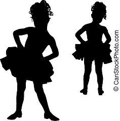 pequeño, bailarinas