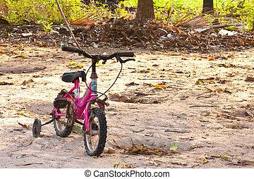 pequeño, bicicleta