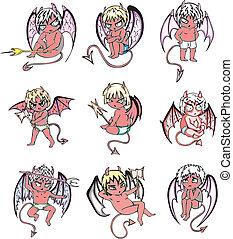 pequeño diablo, caricaturas