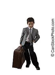 pequeño, hombre de negocios, emprendedor