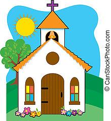 pequeño, iglesia país