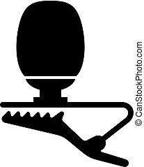 pequeño, lavalier, (lapel), micrófono