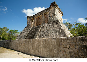 pequeño, maya, templo
