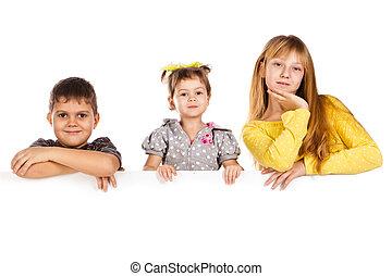 pequeño, niños, reír