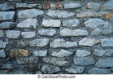 pequeño, pared, roca