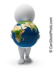pequeño, people-earth, 3d