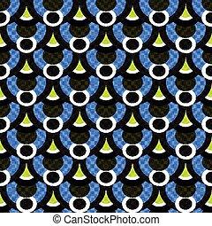 pequeño, polígonos, y, círculos, resumen, patrón geométrico, vector, ilustración