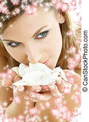 pequeño, rosa, flores, #2, pétalos