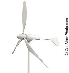 pequeño, turbina, viento