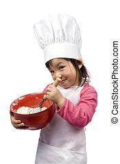 pequeno, 008, cozinheiros