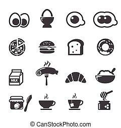 pequeno almoço, ícone