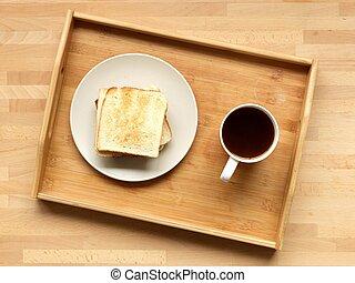 pequeno almoço, bandeja