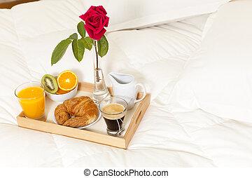 pequeno almoço, cama