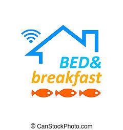 pequeno almoço, cama, &