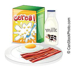 pequeno almoço, completo, refeição