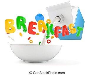 pequeno almoço, conceito
