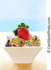 pequeno almoço, granola, cereal