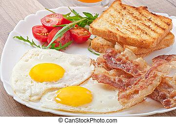 pequeno almoço, inglês