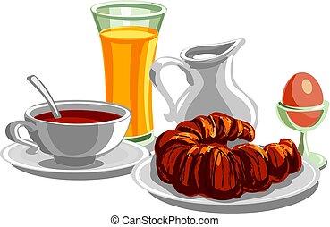 pequeno almoço saudável, manhã