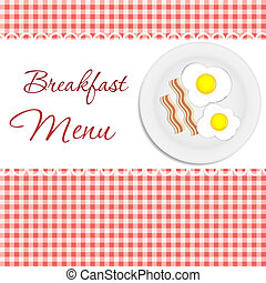 pequeno almoço, vetorial, menu, ilustração