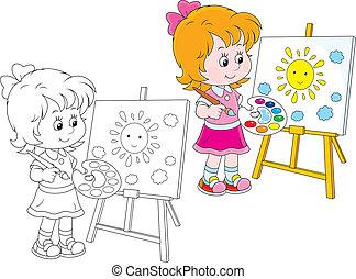 pequeno, artista