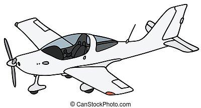 pequeno, avião hélice
