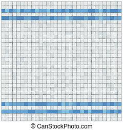 pequeno, azul, e, withe, azulejos, parede, covering., border.