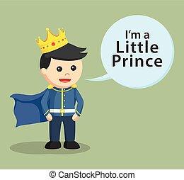 pequeno, callout, príncipe