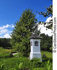 pequeno, capela, em, suwalszczyzna, polônia