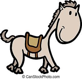 pequeno, cavalo