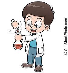pequeno, cientista