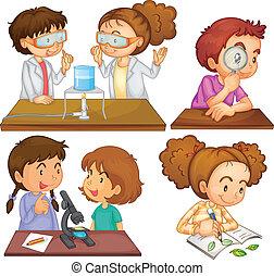 pequeno, cientistas